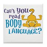 Body Language Garfield Tile Coaster