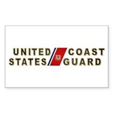 USCG Rectangle Decal