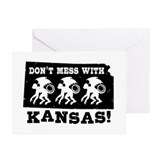 Funny kansas Greeting Cards (10 Pack)