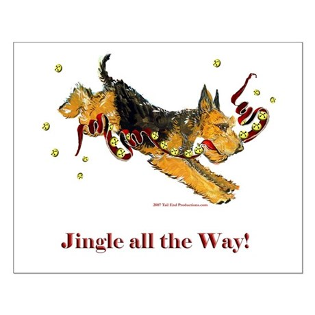 Welsh Terrier Holiday Dog! Small Poster