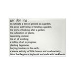 Gardening defination Rectangle Magnet (100 pack)