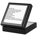 Gardening defination Keepsake Box