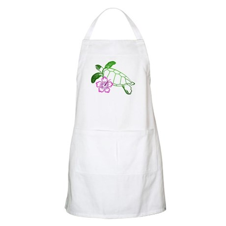 Sea Turtle w/ Hibiscus BBQ Apron