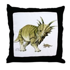 Styracosaurus Throw Pillow