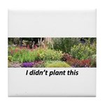 I didn't plant this Tile Coaster
