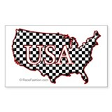 USA Map-1 Rectangle Decal