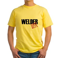 Off Duty Welder Yellow T-Shirt