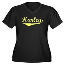 Harley Vintage (Gold) Women's Plus Size V-Neck Dar