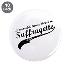 "Suffragette 3.5"" Button (10 pack)"