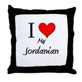 I Love My Jordanian Throw Pillow