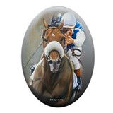 Horse Racing Oval Ornament