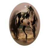 Paint Horse Oval Ornament