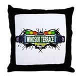 Windsor Terrace (White) Throw Pillow