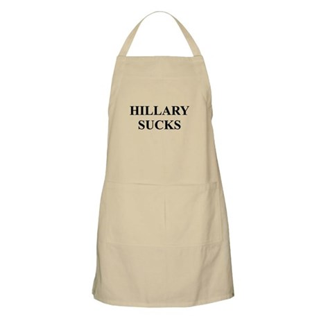 HILLARY CLINTON SUCKS BBQ Apron