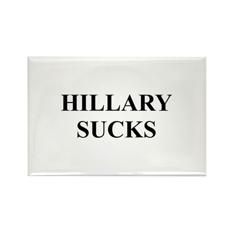 HILLARY CLINTON SUCKS Rectangle Magnet (100 pack)