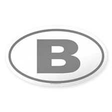 B Oval Decal