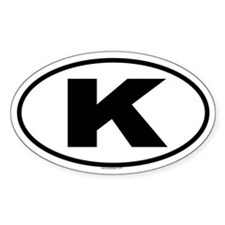 K Oval Decal