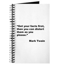 Mark Twain Quote on Fact Distortion Journal