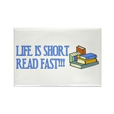 Life is Short, Read Fast Rectangle Magnet (10 pack