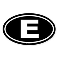E Oval Decal