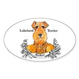 Lakeland Terrier Dog Banner Oval Decal