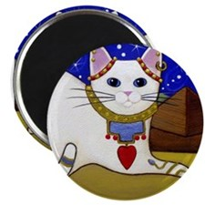 Beautiful White Egyptian CAT Magnet