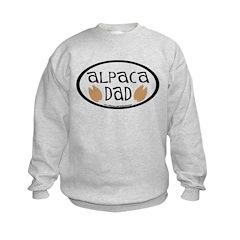 Alpaca Dad Oval Kids Sweatshirt