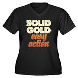 Solid Gold Women's Plus Size V-Neck Dark T-Shirt