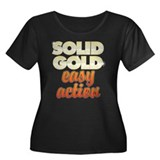 Solid Gold Women's Plus Size Dark T-Shirt