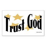 Trust God Rectangle Sticker