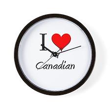 I Love My Canadian Wall Clock