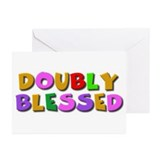 Doubly blessed twin Baby shower invites Pack of 6