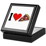 I Love Pizza (design) Keepsake Box