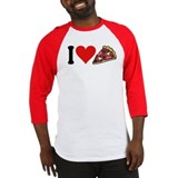 I Love Pizza (design) Baseball Jersey