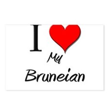 I Love My Bruneian Postcards (Package of 8)