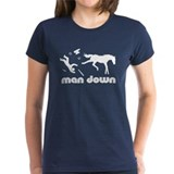 man down horseshoer Tee