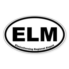 Elmira/Corning Regional Airport Oval Decal
