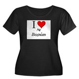 I Love My Bosnian Women's Plus Size Scoop Neck Dar