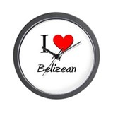 I Love My Belizean Wall Clock