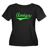 Amiya Vintage (Lt Gr) Women's Plus Size Scoop Neck