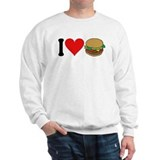 I Love Hamburgers (design) Sweatshirt