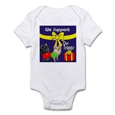 We Support Our Troops Infant Bodysuit