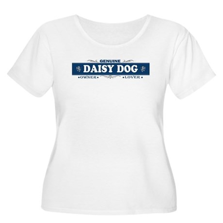 DAISY DOG Womens Plus-Size Scoop Neck T