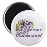 "Floral Junior Bridesmaid 2.25"" Magnet (10 pack)"