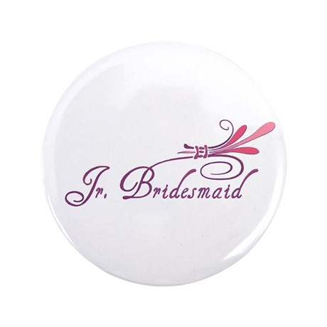 "Pink/Purple Deco Jr. Bridesma 3.5"" Button (100 pac"
