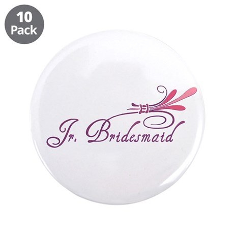 "Pink/Purple Deco Jr. Bridesma 3.5"" Button (10 pack"
