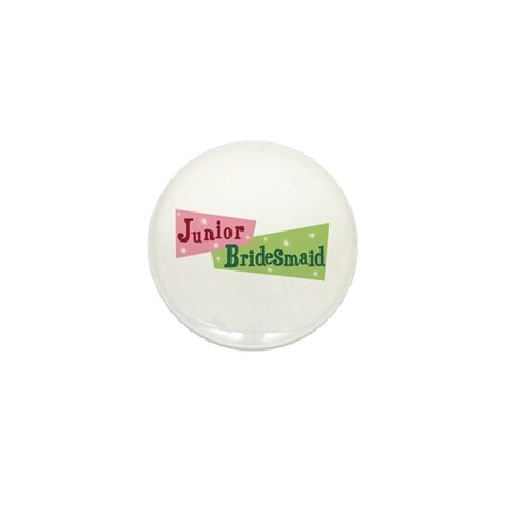 Retro Junior Bridesmaid Mini Button (100 pack)