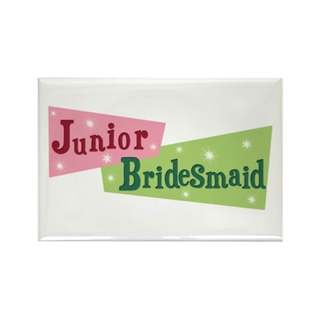 Retro Junior Bridesmaid Rectangle Magnet (100 pack