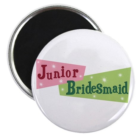"Retro Junior Bridesmaid 2.25"" Magnet (100 pack)"