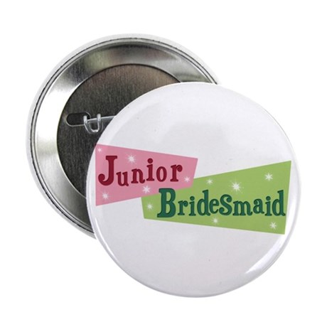 "Retro Junior Bridesmaid 2.25"" Button (100 pack)"